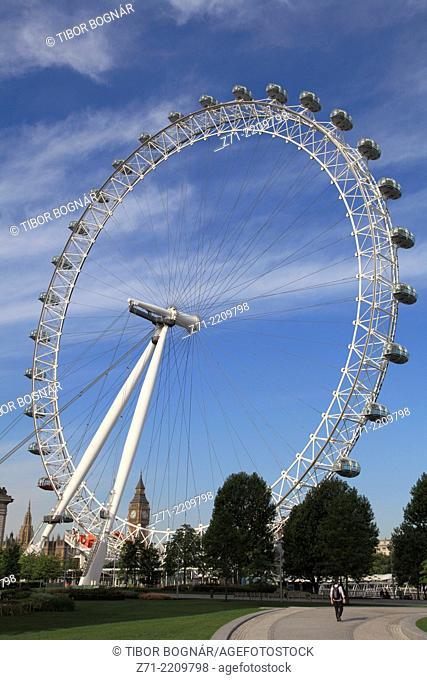 UK, England, London, London Eye, Wheel,