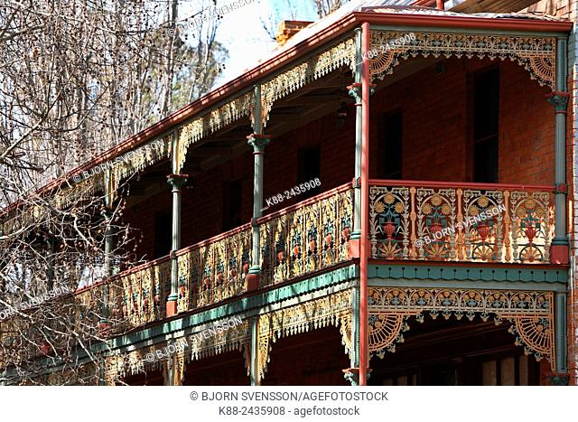 Detail of old Hotel and pub in country Victoria. Australia