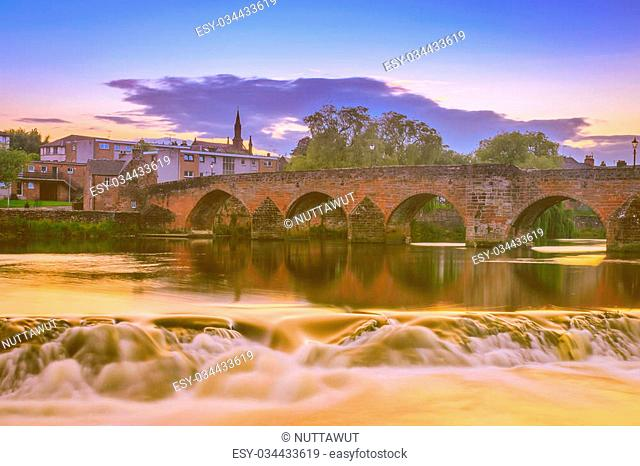 The River Nith and old bridge at Dumfries, Scotland
