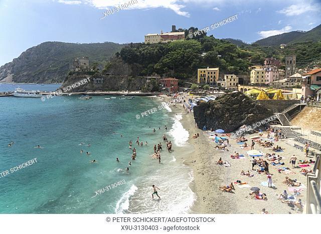 Strand von Monterosso al Mare, Cinque Terre, Riviera di Levante, Ligurien, Italien | beach in Monterosso al Mare, Cinque Terre, Riviera di Levante, Liguria