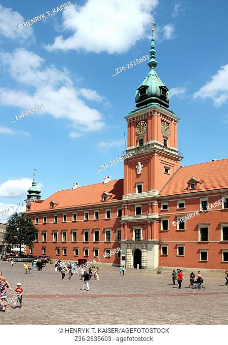 Royal Castle at Castle Square in the old town, Warsaw, Poland