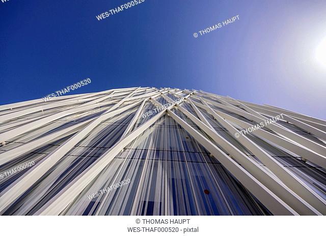 Spain, Barcelona, detail of Telefonica building