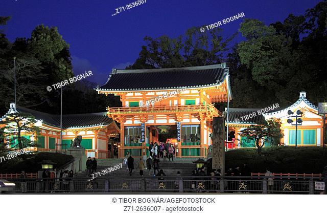 Japan; Kyoto, Yasaka Shrine, gate,