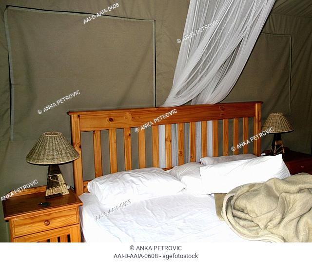 Luxury Tent Interior, Jackalberry Ridge, Marloth Park, Mpumalanga, South Africa