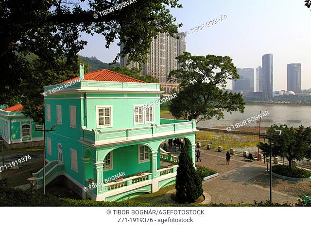 China, Macau, Taipa Village, portugese colonial architecture
