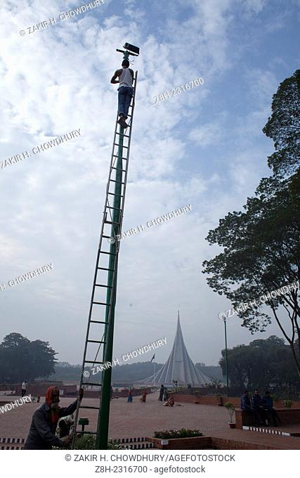 Massive preparations have been taken in and around the National Mausoleum where thousands of people will gather on the Victory Day to pay homage to the...