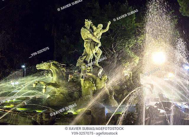 Proserpine fountain, Catania, Sicily, Italy