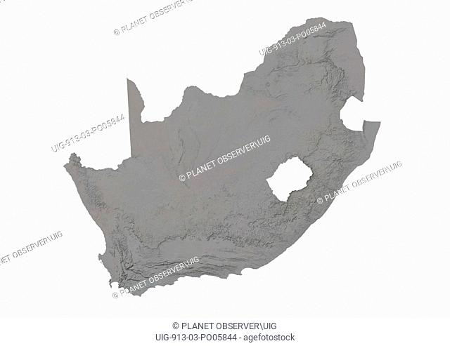 South Africa, Relief Map