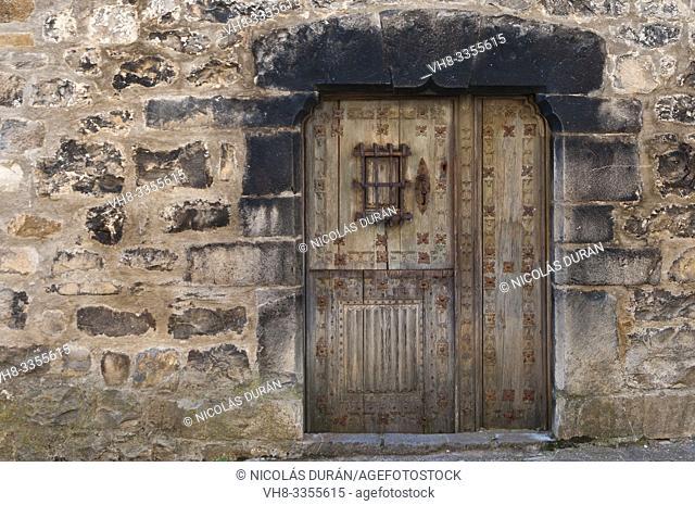 window in rustic house in Aragon Pyrenees, Spain