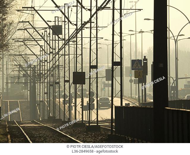 Poland. Warsaw. Tram system web