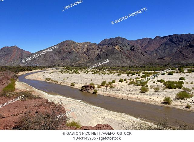 The natural reserve Quebrada de las Conchas, Valles Calchaquíes, Salta, Northwest, Argentina. Located 90 km southwest of the city of Salta