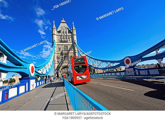 London Tower Bridge close up