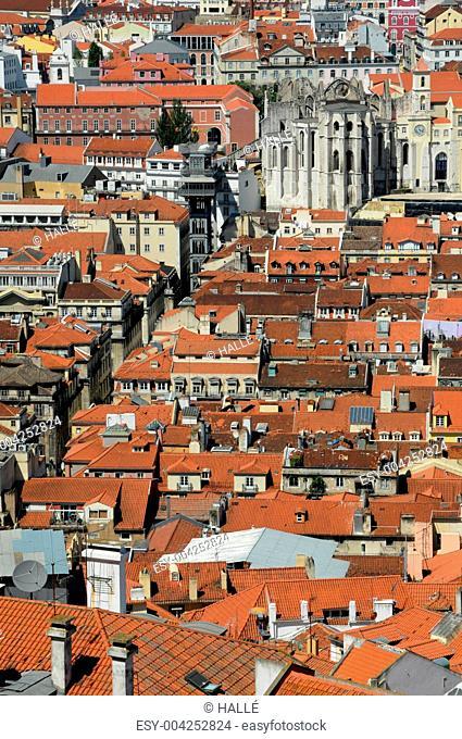 Portugal, Lisbon view from Saint George castle