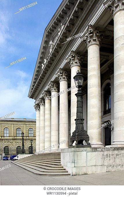 Bavarian State Opera at Max-Joseph-Platz, Munich, Bavaria, Germany