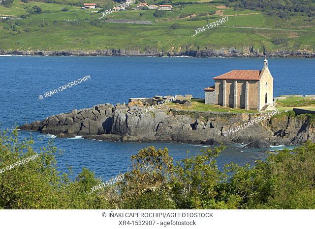 Santa Catalina hermitage, Biosphere Reserve Urdaibai, Mundaka, Biscay, Basque Country, Spain