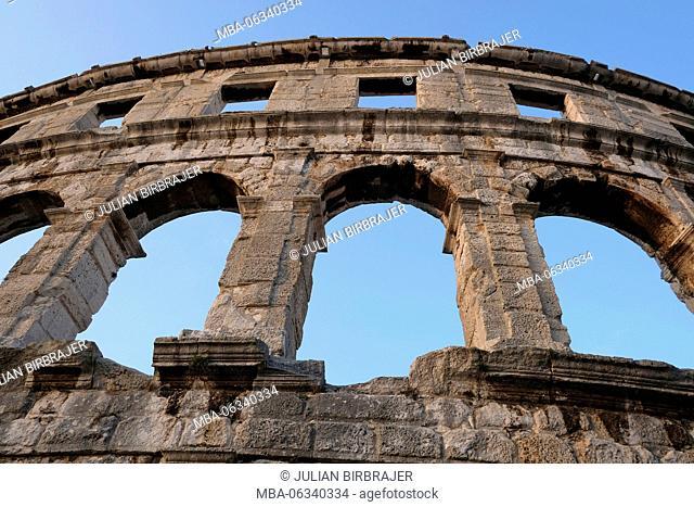 Tourism,arena,amphitheatre,arena,Roman,limestone,wall,sky,architecture