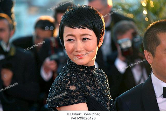 Actress Tao Zhao poses at the Winner's Photo Call during the 66th Cannes International Film Festival at Palais des Festivals in Cannes, France, on 26 May 2013