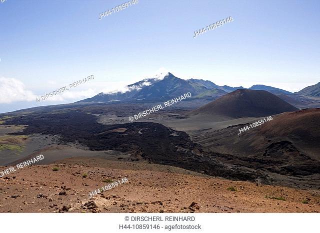 Crater, Haleakala Volcano, Hawaii, USA, Maui, Isla