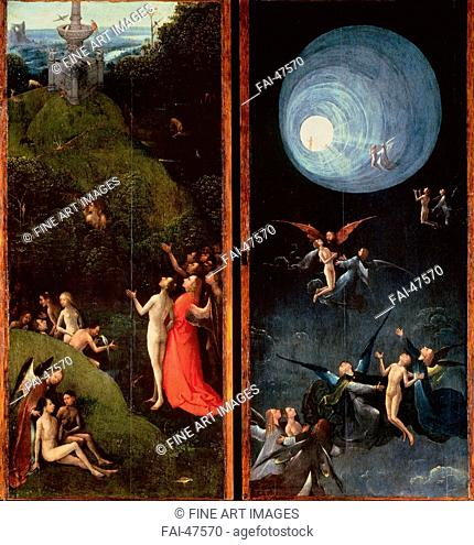 Four Visions of the Hereafter by Bosch, Hieronymus (c. 1450-1516)/Oil on wood/Early Netherlandish Art/ca 1490-1510/The Netherlands/Palazzo Grimani, Venice/Bible