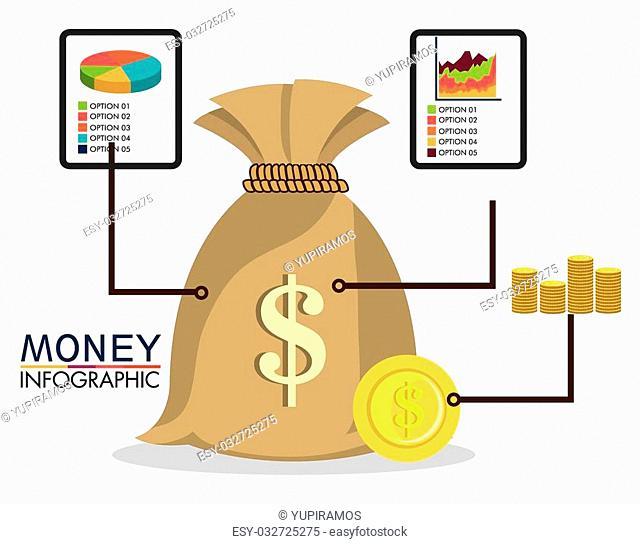 Saving money design, vector illustration eps 10