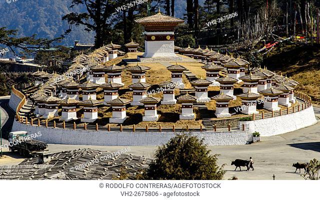 Duchala Pass in Bhutan