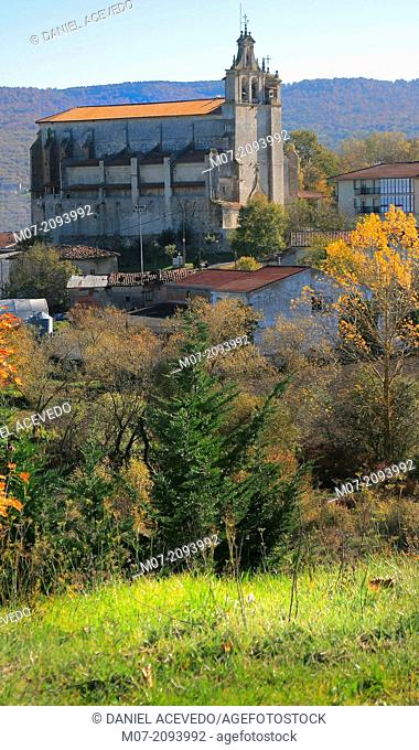 Agurain village, Salvatierra, Santa María Church, Alava, Basque Country, Spain, Europe