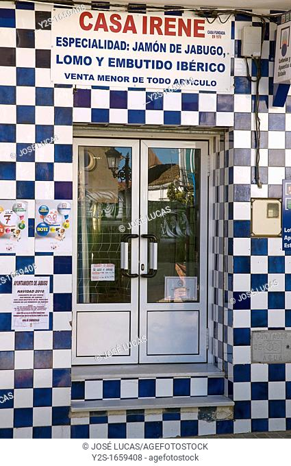 «Casa Irene» - hams and sausage shop, Jabugo, Huelva-province, Spain