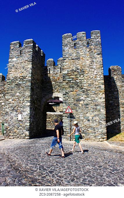 Entrance to the old town of the Castle of Braganca, Portugal