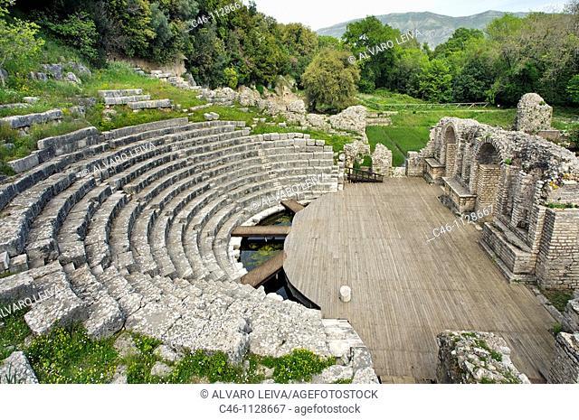 Ancient theatre. 3rd century BC. UNESCO. World Heritage Site. Butrint. Albania