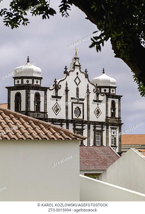 Main Church of Nossa Senhora da Conceicao, Santa Cruz das Flores, Flores Island, Azores, Portugal