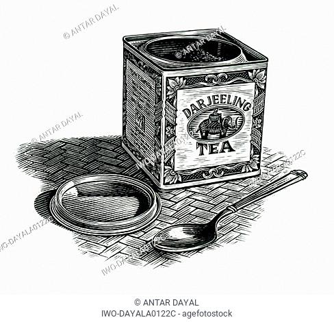 Darjeeling tea can