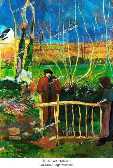 Bonjour Monsieur Gauguin by Gauguin, Paul Eugéne Henri (1848-1903)/Oil on canvas/Postimpressionism/1889/France/Hammer Museum Los Angeles/74,9x54