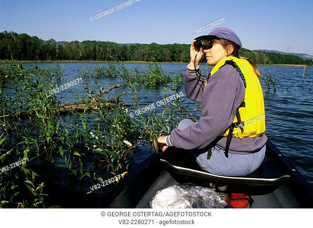 Canoeing on Smith Lake, Smith and Bybee Lakes Wildlife Area, Portland, Oregon