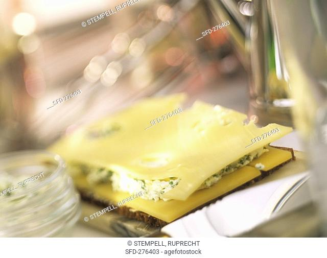 Dutch three cheese sandwich