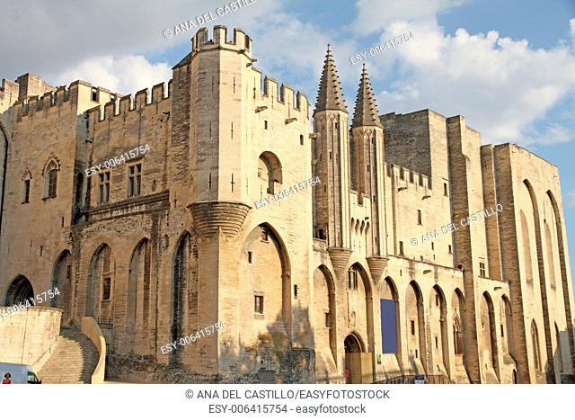 Popes palace is world Heritage site in Avignon France