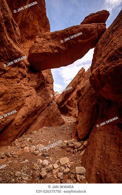 Travel destination and moroccan landmark - Dades Canyon, Atlas Mountains, Morocco