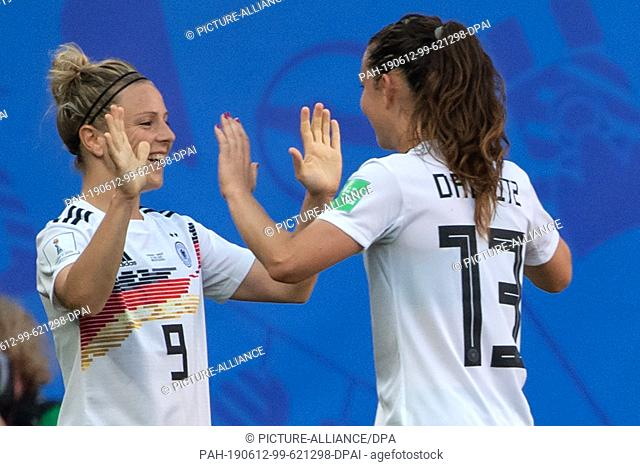 12 June 2019, France (France), Valenciennes: Football, women: WM, Germany - Spain, preliminary round, Group B, 2nd matchday