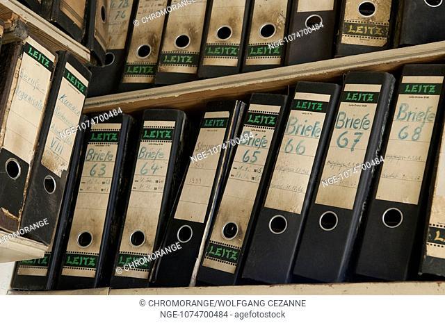 Folders in an office