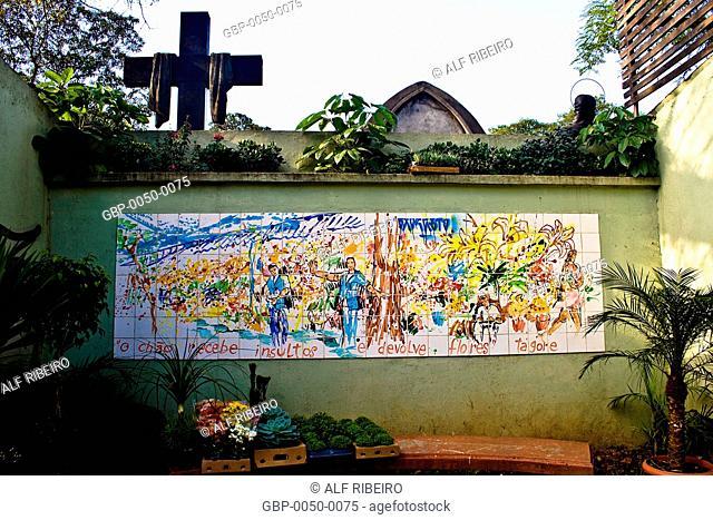 wall; Flower stalls; Dr. Arnaldo Avenue; Sao Paulo; SP; Brazil