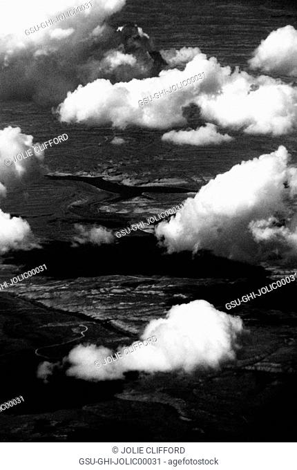 Clouds Over Landscape, High Angle View