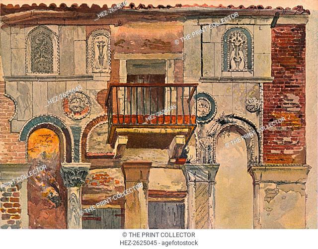 'Fondaco De Turchi, Venice', c1853. Artist: John Ruskin