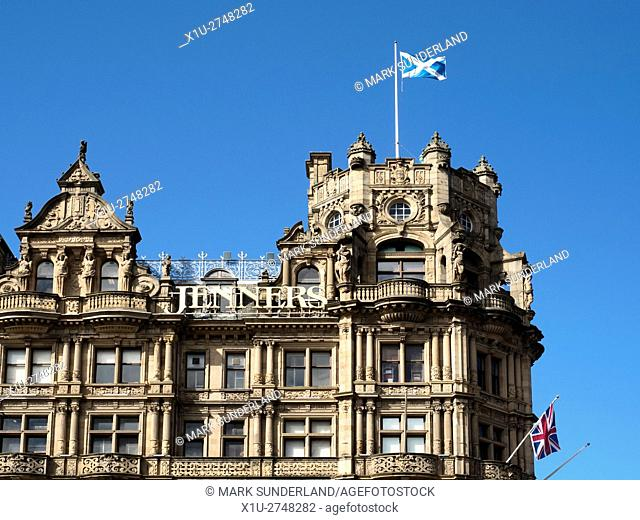 Jenners Department Store on Princes Street in Edinburgh Midlothian Scotland