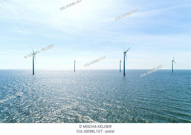 Offshore wind farm, Urk, Flevoland, Netherlands