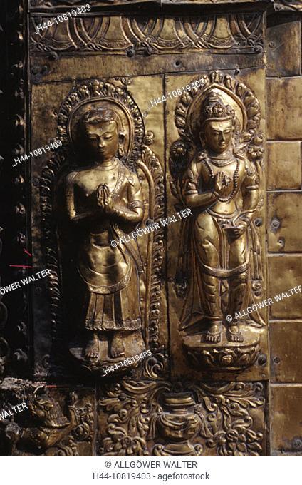 religion, Buddhism, Manjusri, Bodhisattvas, Buddha, 10th step, wisdom, sambhogakaya aspect, brass, metal, relief, craf