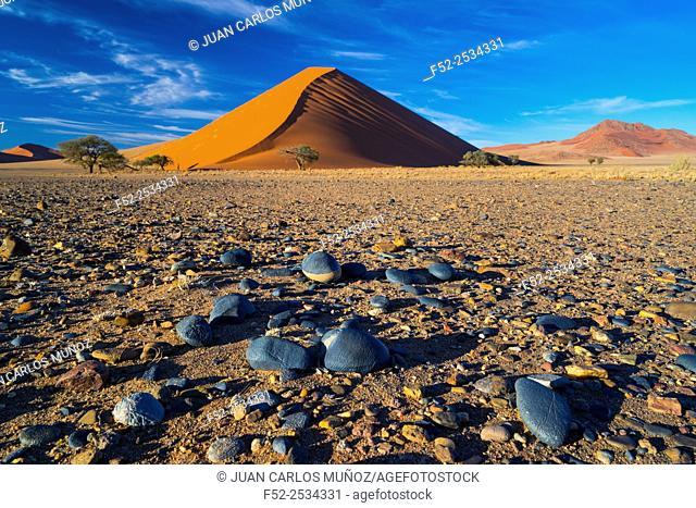 Namibia, Namib Naukluft National Park, Sand dunes in desert