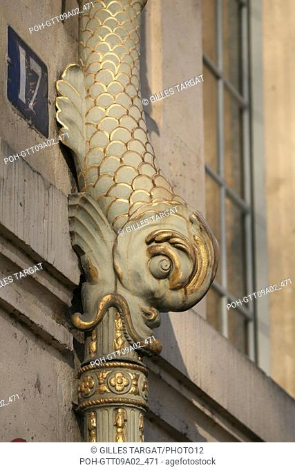 tourism, France, 4th arrondissement of paris, ile saint louis, hotel de lauzun, 17 quai d'anjou, property of the ville de paris, facade on a street