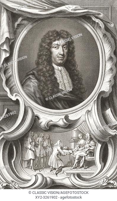 George Savile, 1st Marquess of Halifax, 1633-1695. English politician, statesman and author. From the book The Heads of Illustrious Persons of Great Britain