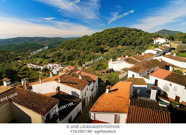 Sierra de Aracena Natural Park, Landscape, Santa Ana La Real, Huelva province, Region of Andalusia, Spain, Europe