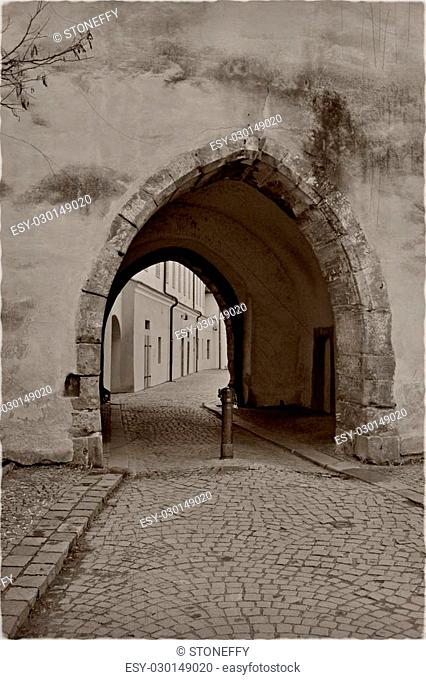 An old passway with old effect