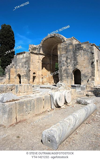 6th Century Basilica of Agios Titos, Ancient Site of Gortyn, Crete, Greece
